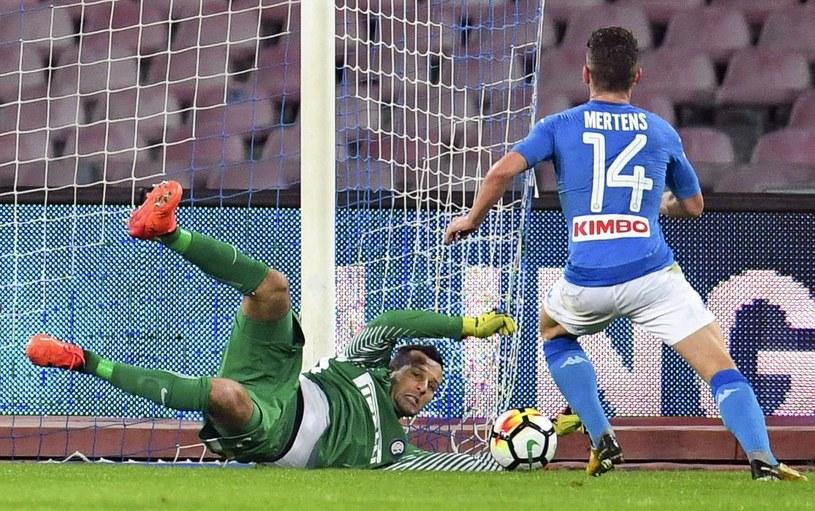 Bramkarz Interu Samir Handanović w akcji podczas meczu z Napoli /PAP/EPA
