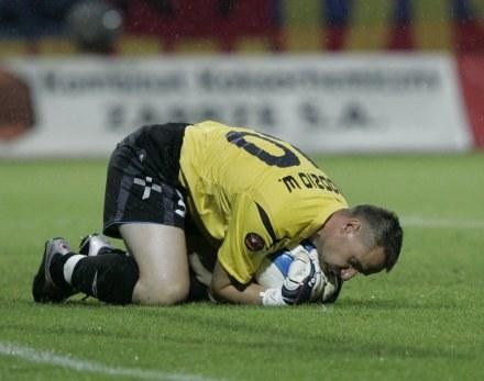 Bramkarz ŁKS-u Bogusław Wyparło, fot: Jerzy Kleszcz /Agencja Przegląd Sportowy