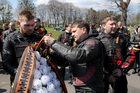 Braniewo: Rosyjscy oficjele i motocykliści oddali hołd czerwonoarmistom