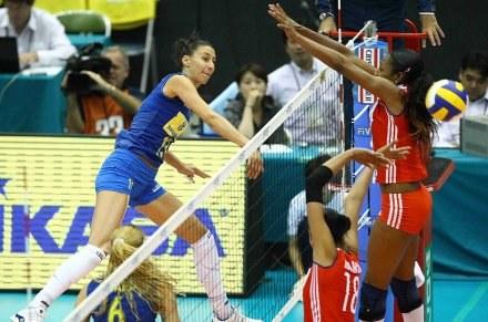 Brazylijki nie dały szans Kubankom. Na zdjęciu Sheilla Castro /www.fivb.org