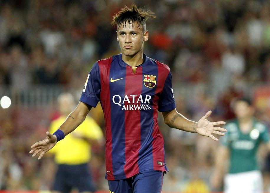 Brazylijski piłkarz Barcelony Neymar / Toni Albir    /PAP/EPA