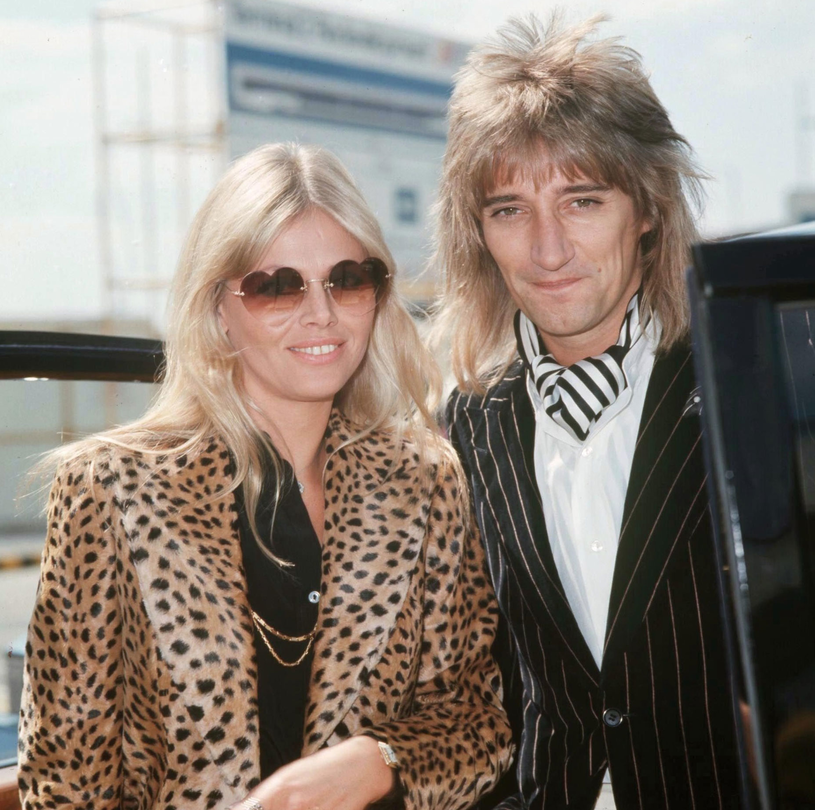Britt Ekland i Rod Stewart w 1976 roku /Rex Features/Bill Zygmunt /East News