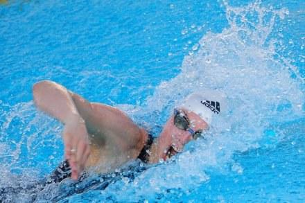 Britta Steffen płynie po nowy rekord świata. /AFP