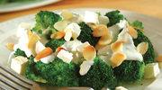 Brokuły z fetą i migdałami