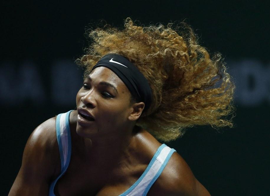 Broniąca tytułu amerykańska tenisistka Serena Williams pokonała Caroline Wozniacki /WALLACE WOON /PAP/EPA