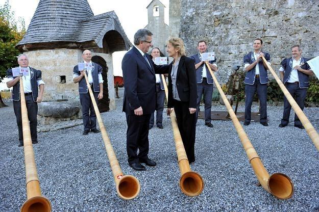 Bronisław Komorowski i prezydent Szwajcarii Eveline Widmer-Schlumpf /PAP