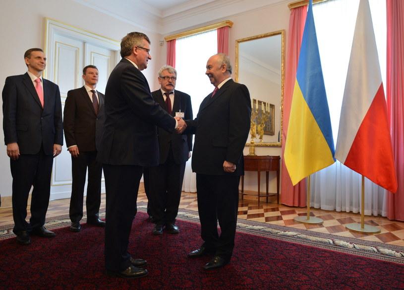 Bronisław Komorowski i Wołodymyr Rybak /PAP