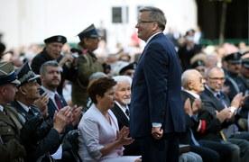 Bronisław Komorowski podczas spotkania z powstańcami