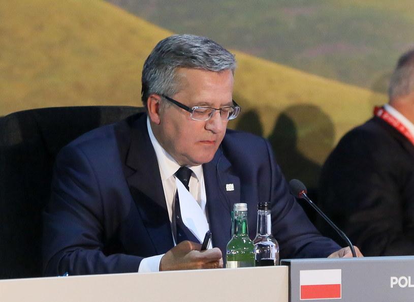Bronisław Komorowski przebywa obecnie na szczycie NATO /Paweł Supernak /PAP