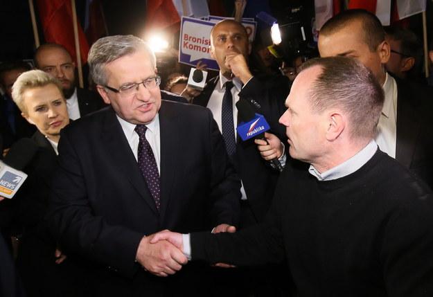 Bronisław Komorowski z Andrzejem Hadaczem /Paweł Supernak /PAP