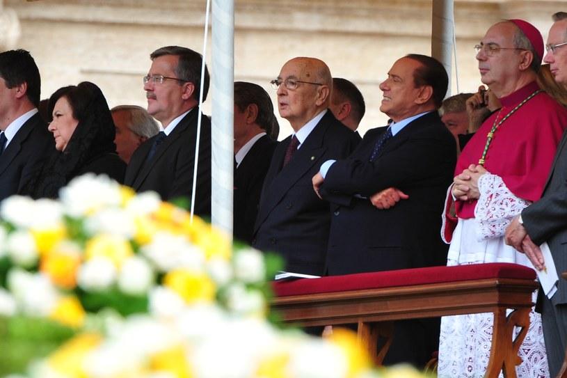 Bronisław Komorowski z żoną podczas beatyfikacji Jana Pawła II, 01.05.2011 /AFP