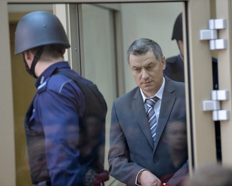 Brunon Kwiecień na ławie oskarżonych /Jacek Bednarczyk /PAP