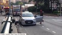 Brutalne starcie na ruchliwej ulicy