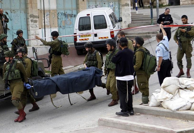Brutalne zabójstwo w Hebronie /ABED AL HASHLAMOUN    /PAP/EPA