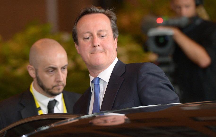 Brytyjski premier na szczycie w Brukseli /Radek Pietruszka /PAP