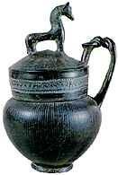Bucchero z czarnej gliny , Volsinii (Orvieto), ok. 600 r. p.n.e. /Encyklopedia Internautica