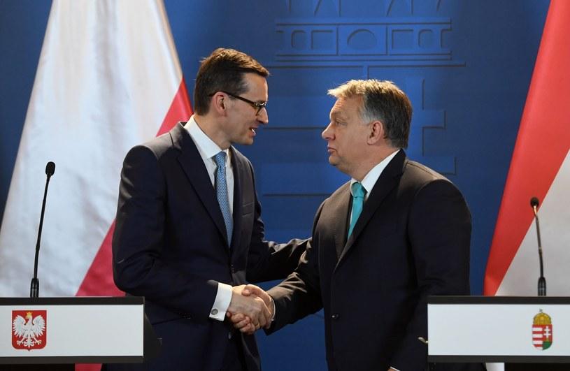 Budapesztańskie spotkanie premierów Mateusza Morawieckiego i Victora Orbana /Attila Kisbenedek /Agencja SE/East News