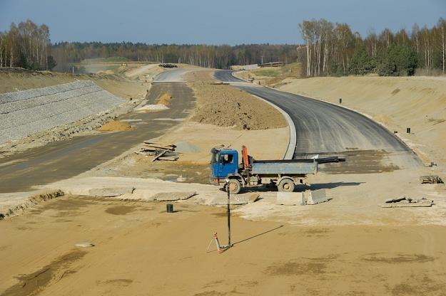 Budowa A4 na odcinku Tarnów - Dębica. Stan z początku kwietnia / Fot: Tadeusz Koniarz /Reporter
