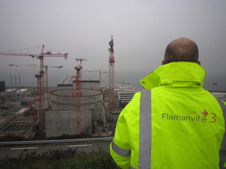 Budowa elektrowni atomowej we Flamanville w Normandii /Ulrike Koltermann    /PAP/EPA