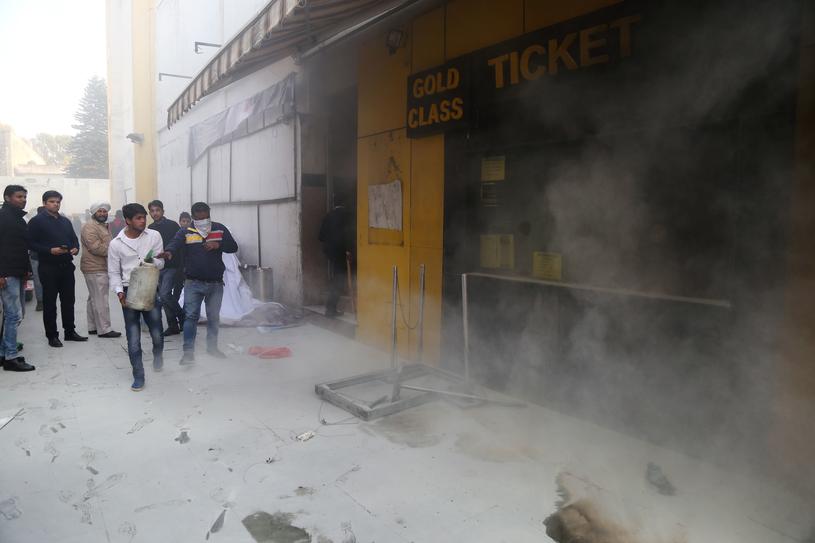 """Budynek kina wyświetlającego film """"Padmaavat"""" /AFP"""