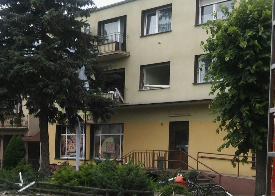Budynek, w którym doszło do eksplozji /Gorąca Linia RMF FM /