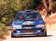 Burns na swym Subaru jest czwarty