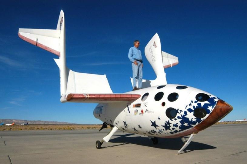 Burt Rutan na SpaceShipOne - zdjęcie z 2004 roku. Źródło: Scaled Composites /Kosmonauta
