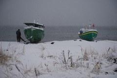 Burza śnieżna nad Bałtykiem