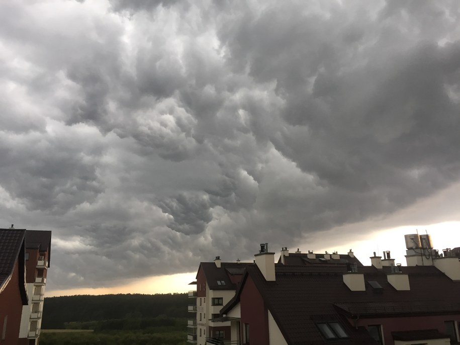 Burza w Olsztynie /Piotr Bułakowski /RMF FM