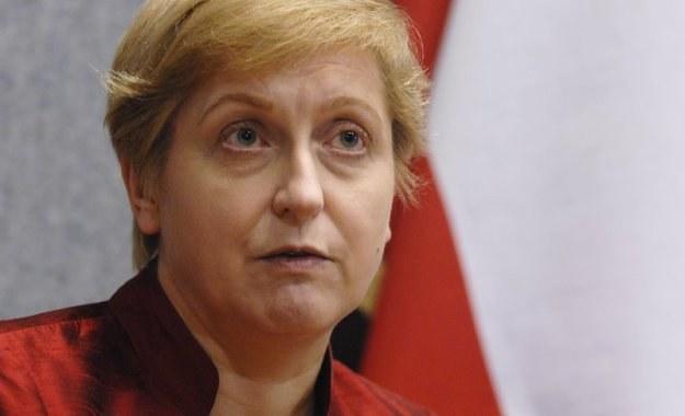 Była szefowa MSZ Anna Fotyga, fot. Wiktor Dąbkowski /Reporter