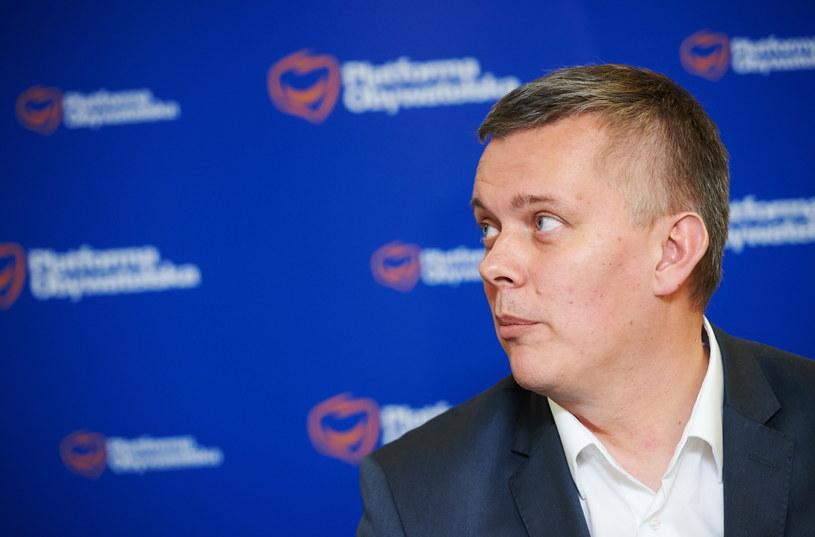 Były minister obrony narodowej poseł Platformy Obywatelskiej Tomasz Siemoniak podczas spotkania z członkami Platformy Obywatelskiej w Gdańsku /Adam Warżawa /PAP