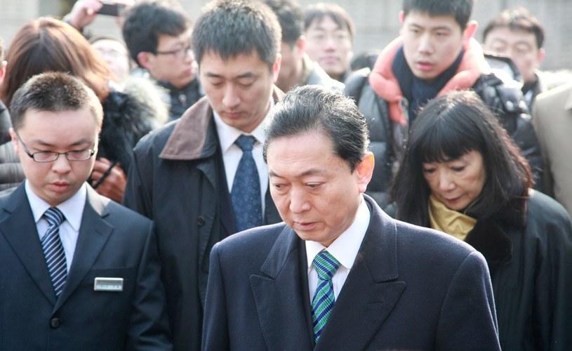 Były premier Japonii Yukyo Hatoyama /AFP