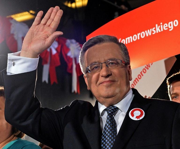 Były prezydent Bronisław Komorowski /AFP