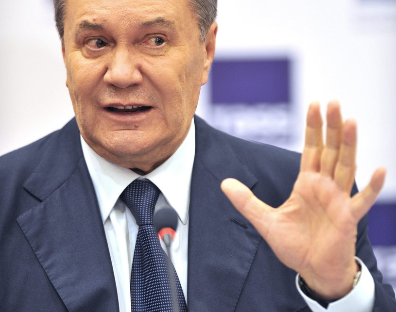 Były prezydent Ukrainy Wiktor Janukowycz oskarżony o kradzież /ALEXANDER BLOTNITSKY /PAP/EPA
