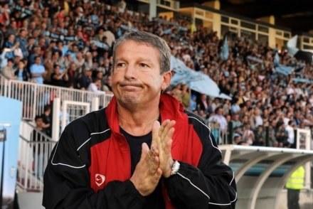 Były trener Olympique Marseille Rolland Courbis /AFP