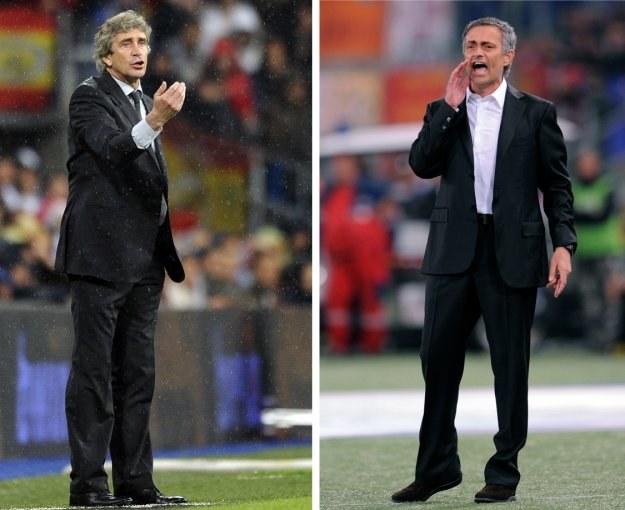 Były trener Realu Madryt Manuel Pellegrini (z lewej) i jego następca Jose Mourinho /AFP