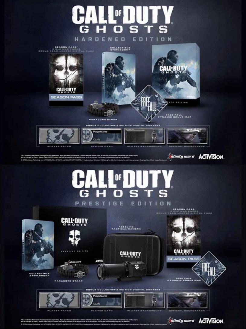 Call of Duty: Ghosts - dwie wersje kolekcjonerskie - grafika znaleziona w serwisie YouTube /materiały prasowe