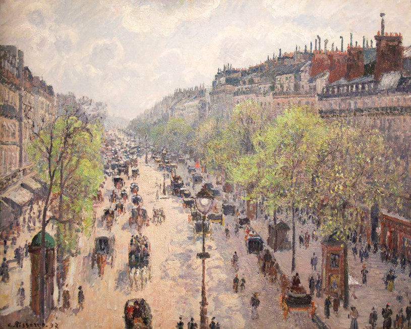 "Camille Pissarro ""Boulevard Montmartre"" (1897) /AFP"