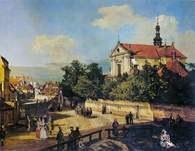 Canaletto, właśc. Bernardo Belotto, Ulica Senatorska z kościołem Reformatów, 1779 /Encyklopedia Internautica