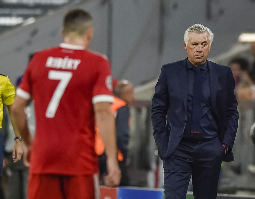 Carlo Ancelotti i Franck Ribery /AFP