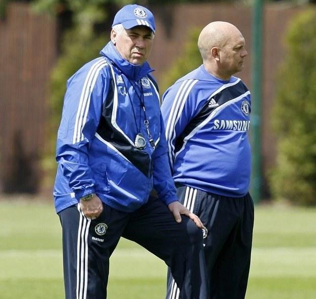 Carlo Ancelotti (z lewej) i Ray Wilkins /AFP