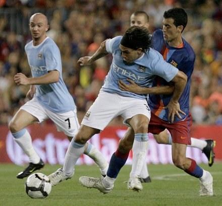 Carlos Tevez już w koszulce Manchesteru City /AFP