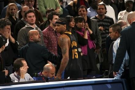 Carmelo Anthony - jeden z negatywnych bohaterów wieczoru w MSG Fot. Ned Dishman/Getty Images /