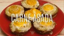 Carne asada - przekąski z mięsa mielonego z jajkiem