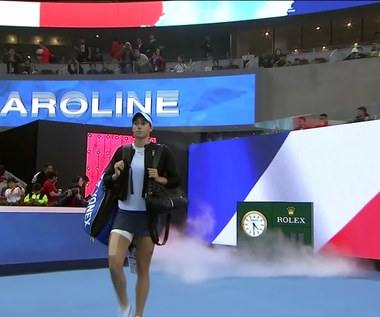 Caroline Garcia - Simona Halep 6:3, 7:6 w finale. Wideo
