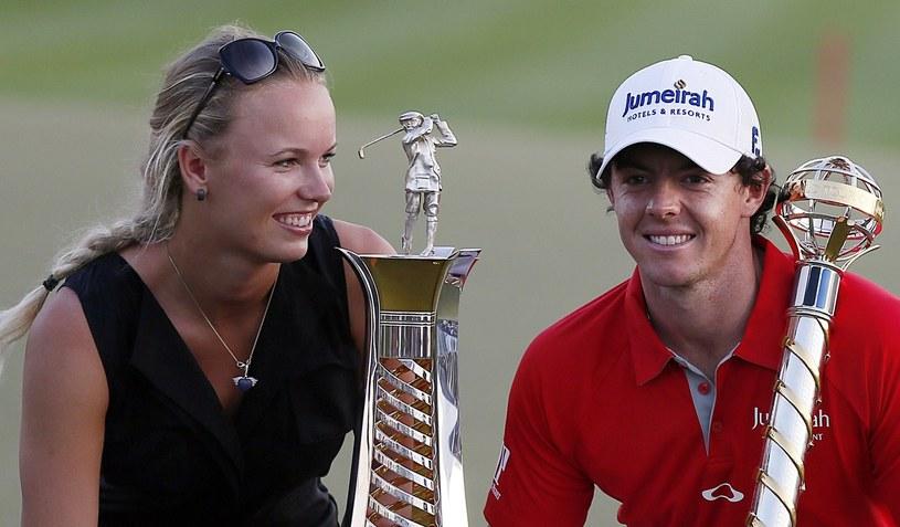 Caroline Wozniacki i Rory McIlroy /AFP