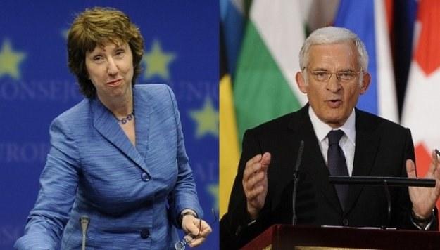 Catherine Ashton i Jerzy Buzek/AFP /New York Times/©The International Herald Tribune