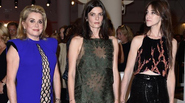 Catherine Deneuve, Chiara Mastroianni i Charlotte Gainsbourg zachwycały w Wenecji /fot. Le Segretain /Getty Images