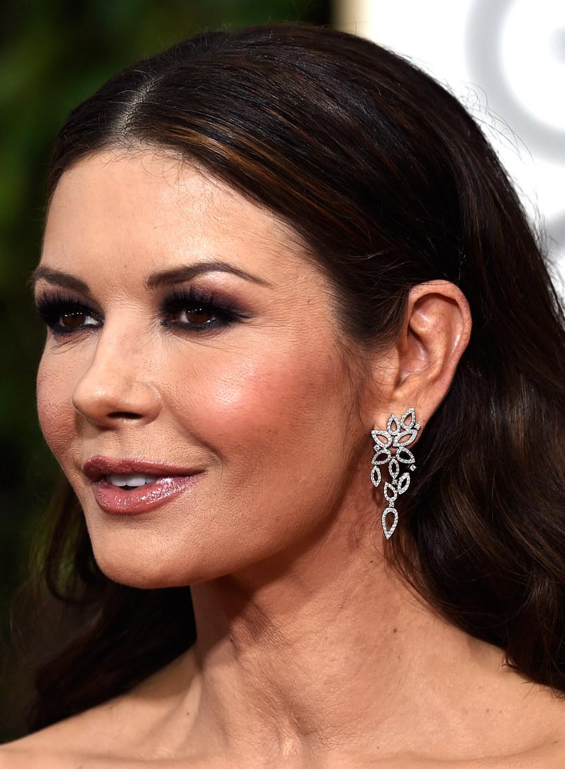 Catherine Zeta-Jones ledwo mogła się uśmiechnąć /Frazer Harrison /Getty Images