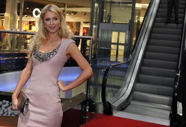 Celebrytka, dziedziczka fortuny Hiltonów, Amerykanka Paris Hilton  /fot. Andrzej Grygiel /PAP